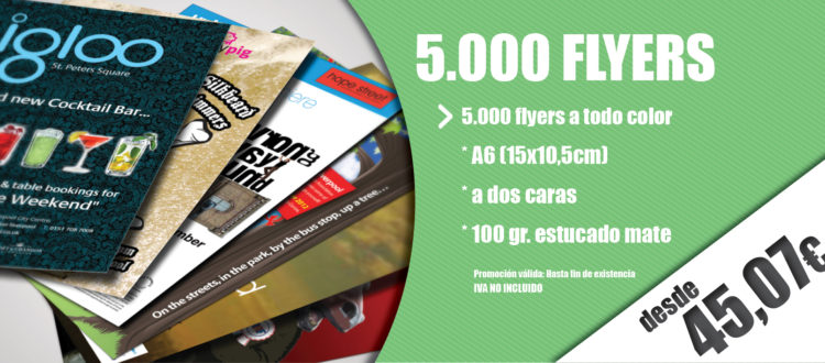 Oferta Flyers y folletos A6