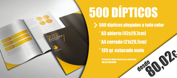 oferta dipticos baratos