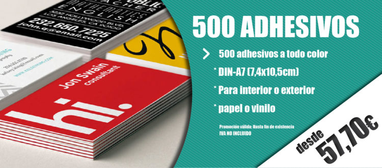 imprenta oferta adhesivos