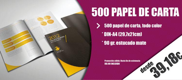 oferta papel de carta