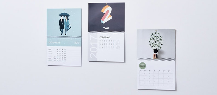 Oferta imprenta calendarios pared